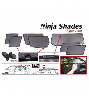 Ninja Sunshade for Toyota Alphard ANH10 2002-2007 (7 Pcs)