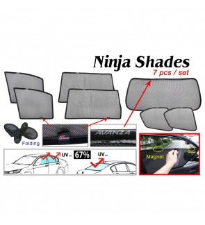 Ninja Sunshade for Toyota Avanza (7 Pcs)