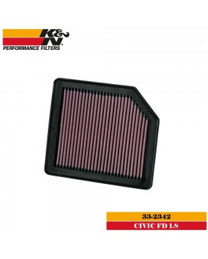 K&N 33-2342 Air Filter - Honda Civic FD 1.8