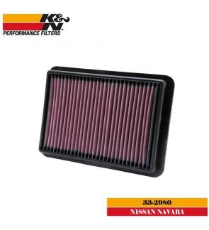 K&N 33-2980 Air Filter - Nissan Navara 2.5