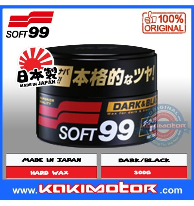 Soft 99 Dark & Black Hard Wax with Cleaner for Black Color Car (300g)