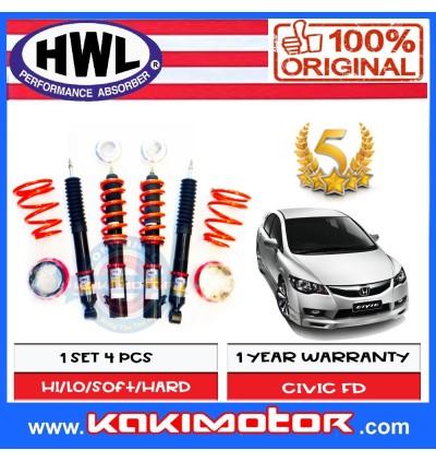 HWL ST-1 Adjustable Coilover Suspension - Honda Civic FD