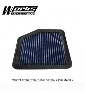 Works Engineering Air Filter - Lexus IS220/250/350 / GS350/430 / Mark X