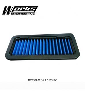 Works Engineering Air Filter - Toyota Vios NCP42 03-07