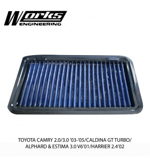 Works Engineering Air Filter - Toyota Camry 2.0/3.0 03-05 / Caldina GT Turbo