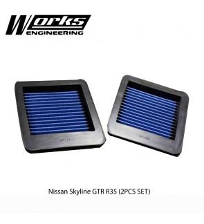 Works Engineering Air Filter - Nissan GT-R R35 (1 Pair)
