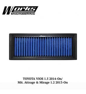 Works Engineering Air Filter - Toyota Vios 14+ / Perodua Myvi 18+ / Mit. Attrage/Mirage 1.2 13+