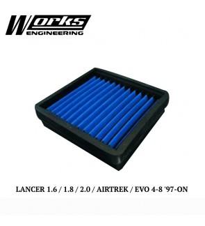 Works Engineering Air Filter - Mitsubishi Lancer 1.6/1.8/2.0/Airtrek/EVO 4-8 97+