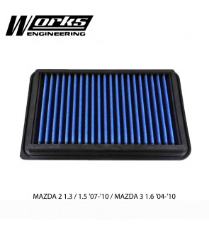 Works Engineering Air Filter - Mazda 2 1.3/1.5 07-10 / Mazda 3 1.6 04-10