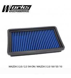Works Engineering Air Filter - Mazda 3 2.0/2.3 04+ / Mazda 5 2.0 05-10