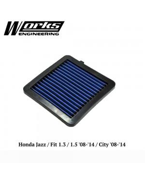 Works Engineering Air Filter - Honda Jazz GE 1.3/1.5 /City 08-14