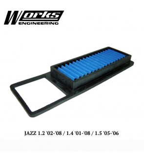Works Engineering Air Filter - Honda Jazz GD 1.2 02-08/1.4 01-08/1.5 05-06