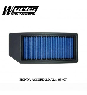Works Engineering Air Filter - Honda Accord CM 2.0/2.4 03-07