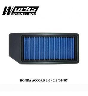 Works Engineering Air Filter - Honda Accord CM 2.0/2.4 03-07