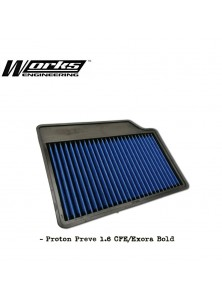 Works Drop in Air Filter - Proton Preve CFE / Exora Bold / Suprima S