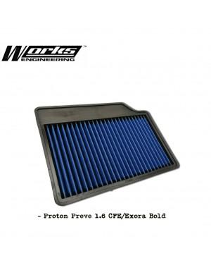 Works Drop in Air Filter - Proton Preve CFE / Exora Bold / Suprima S