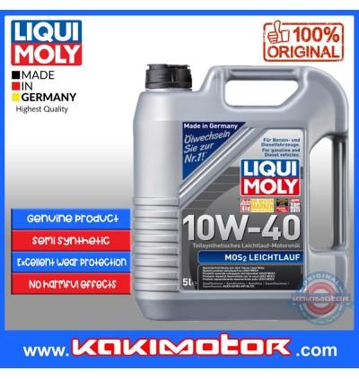 [Free Engine Flush]Liqui Moly Mos2 Leichtlauf (5L) 10W40-Germany