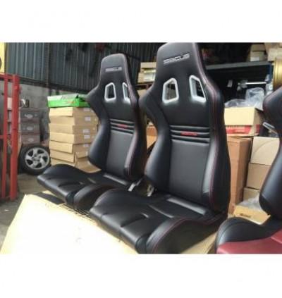 [1PC]SSCUS Sport Seat EVO PU - Black(EXCLUDE SLIDER)