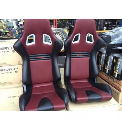 SSCUS 1PC Sport Seat EVO PU - Red(EXCLUDE SLIDER)