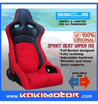 [1PC]SSCUS Sport Seat Viper 110 - Red(EXCLUDE SLIDER)
