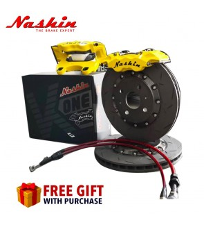 NASHIN K22 MINI 6 POT (286MM) BRAKE CALIPER KIT-PERODUA